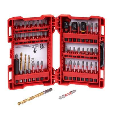 SHOCKWAVE Impact Duty Alloy Steel Screw Driver Bit Set (50-Piece)