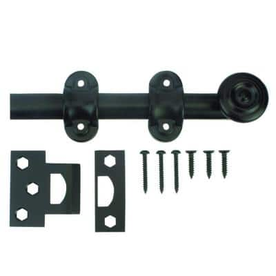 6 in. Oil-Rubbed Bronze Decorative Surface Bolt