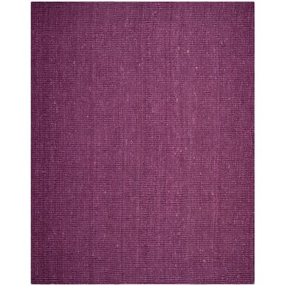Natural Fiber Purple 9 ft. x 12 ft. Solid Area Rug