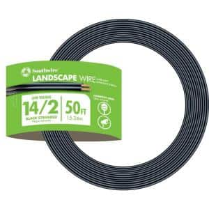 Southwire Sprinkler System Wire 500 ft 18//7 Black Solid UL Burial UV-Resistant