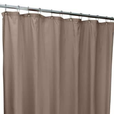 70 in. x 72 in. Taupe Microfiber Soft Touch Diamond Design Shower Curtain Liner