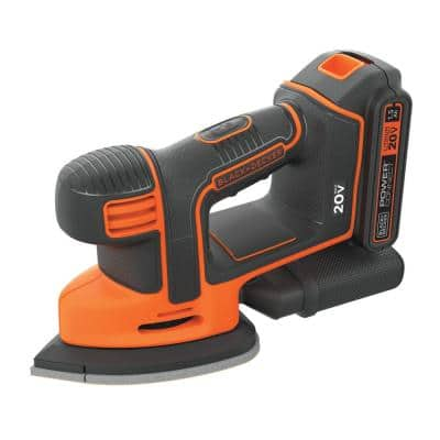 20-Volt MAX Lithium-Ion Cordless Mouse Sander with 1.5 Ah Battery and Charger