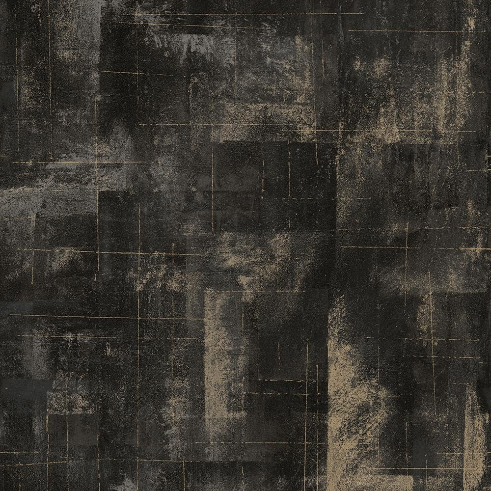 Brewster Distressed Textures Black Paper Strippable Roll Covers 57 8 Sq Ft 2927 20401 The Home Depot