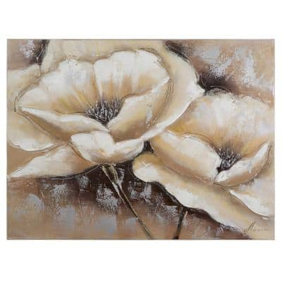 """24 in. x 31 in. """"Full Bloom I"""" Hand Painted Canvas Wall Art"""