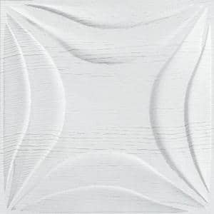 Lily 3D Fiber Wall Paneling (20 in. x 20 in. Per Piece, 24-Piece)