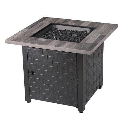 30 in. Square Lancaster LP Outdoor Gas Fire Pit