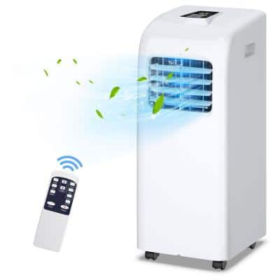8000 BTU Portable Air Conditioner with Dehumidifier in White
