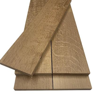 1 in. x 6 in. x 6 ft. Quarter Sawn White Oak S4S Board (2-Pack)