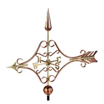 Victorian Arrow Weathervane - Pure Copper