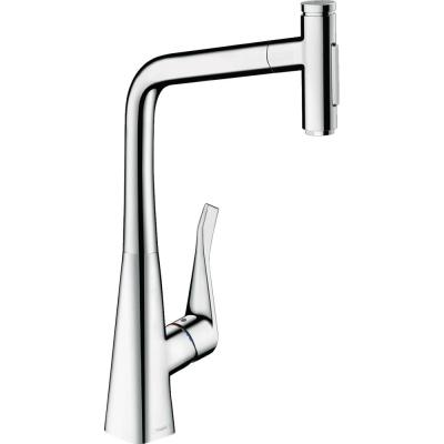 Metris Select Single-Handle Pull-Down Sprayer Kitchen Faucet in Chrome
