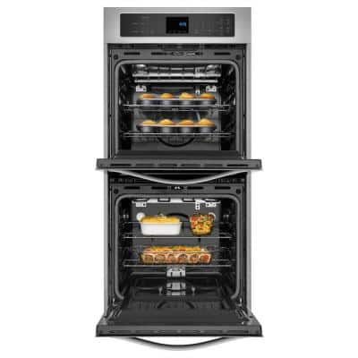 24 in. Double Electric Wall Oven Self-Cleaning in Stainless Steel