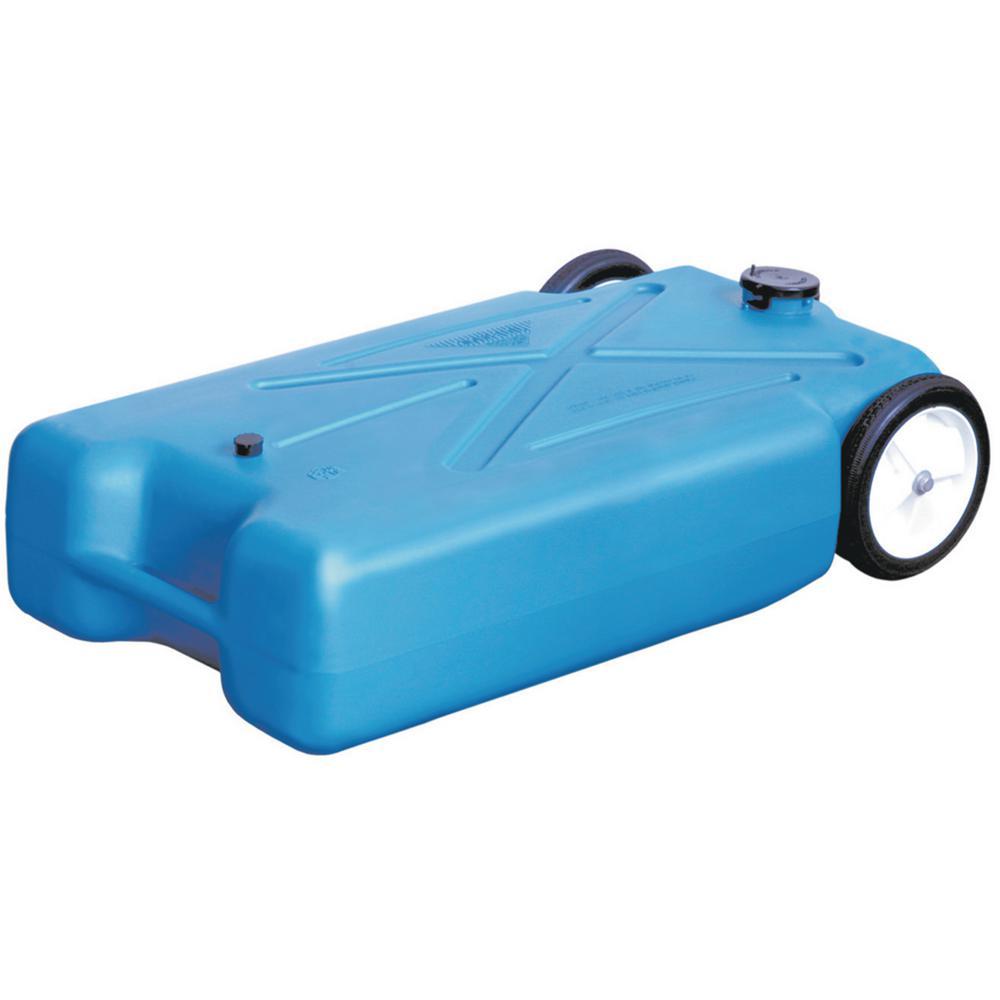 22 Gal. Polyethylene Tote-Along RV Waste Tank with Heavy-Duty Wheels