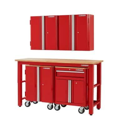 5-Piece Ready-to-Assemble Steel Garage Storage System in Red (72 in. W x 98 in. H x 24 in. D )