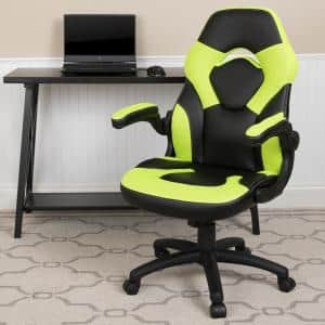 Neon Green LeatherSoft Upholstery Racing Game Chair