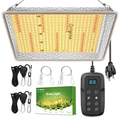 14.5 in. 1000-Watt Equivalent Silver Dimmable Light Full Spectrum LED Plant Grow Light Fixture Daylight