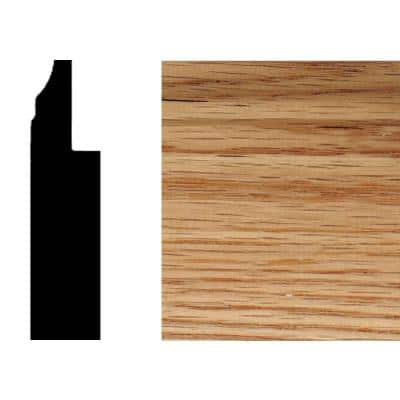 3/4 in. x 3 in. x 8 ft. Red Oak Wood Wainscot Baseboard Moulding