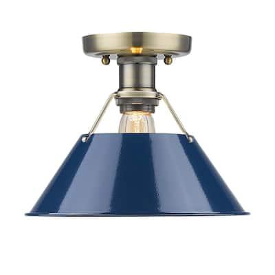Orwell AB 1-Light Aged Brass Flush Mount Light