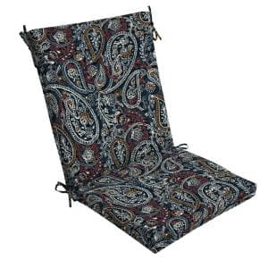 20 in. x 24 in. Palmira Paisley Outdoor Chair Cushion