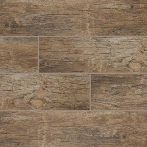 Redwood Natural 6 in. x 36 in. Matte Porcelain Floor and Wall Tile (12 sq. ft. / case)