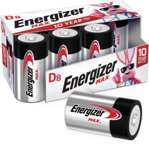 Energizer MAX Alkaline D Batteries, 8 Pack