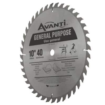 10 in. x 40-Tooth General Purpose Circular Saw Blade