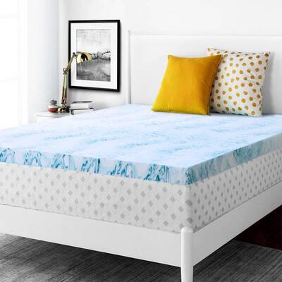 Comfort 2 in. Queen Memory Foam Mattress Topper