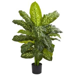 Indoor 42 in. Artificial Dieffenbachia Real Touch Plant in Nursery Pot