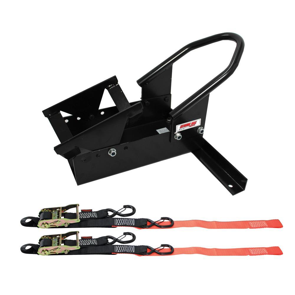 Deluxe Motorcycle Wheel Chock / Tie-Down Kit