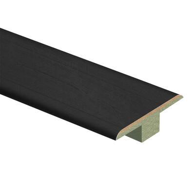 Pure Black Oak 7/16 in. T x 1-3/4 in. W x 72 in. L Laminate T-Molding