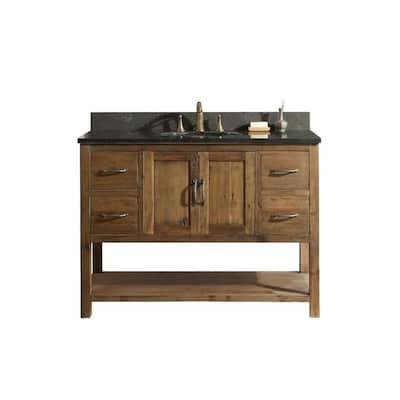 Austin 47 in. W x 21.5 in. D Bath Vanity Cabinet Only in Walnut