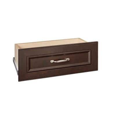 Impressions 22 in. W x 9 in. H Chocolate Wood Drawer Kit for 25 in. W Impressions Tower