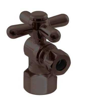 1/2 in. IPS x 3/8 in. O.D. Compression Outlet Angle Stop in Oil Rubbed Bronze