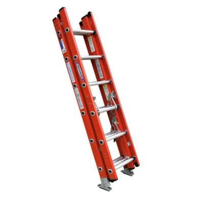 16 ft. Fiberglass Compact Extension Ladder with 300 lb. Load Capacity Type IA Duty Rating
