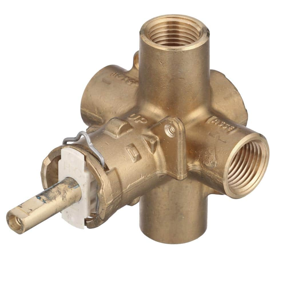 1//2-Inch IPS Connections Moen 2510 Brass Posi-Temp Pressure Balancing Tub and Shower Valve
