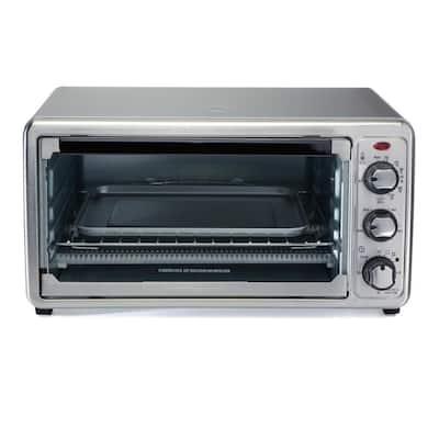 1440-Watt 6-Slice Stainless Steel Toaster Oven