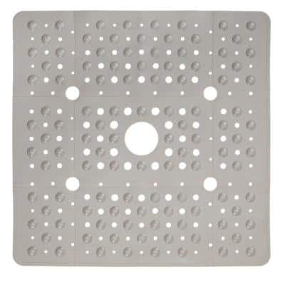 27 in. x 27 in. Extra Large Square Shower Mat in Tan
