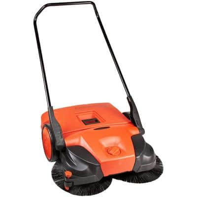 31 in. Manual Push Deluxe Turbo Sweeper with Triple Brush Sweeper System