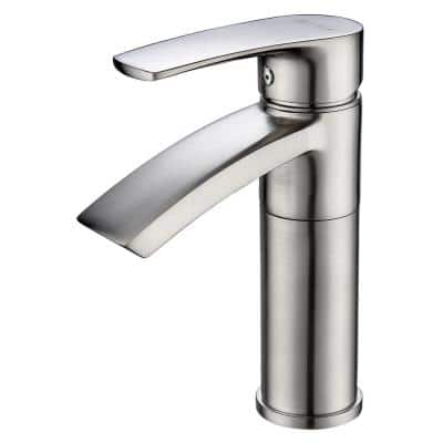 Ariana Single Hole Single-Handle Bathroom Faucet with Swivel Spout in Brushed Nickel