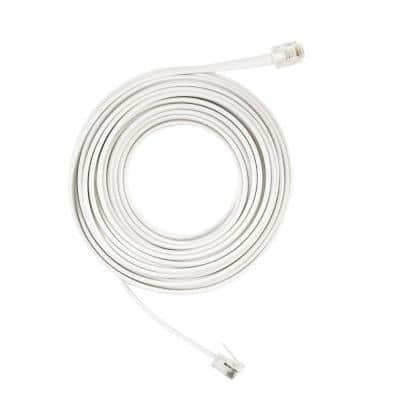 25 ft. Corded Phone Line, White