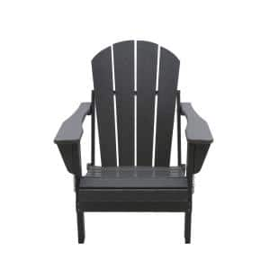 Addison Gray Folding Poly Outdoor Adirondack Chair