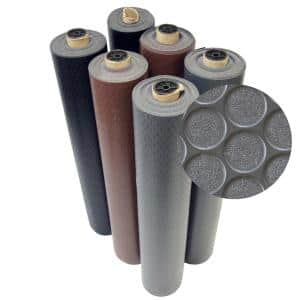 Coin Grip 4 ft. x 15 ft. Brown Commercial Grade PVC Flooring