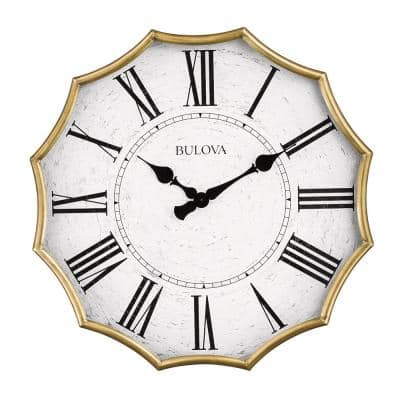 Oversized Scalloped Edge 28 in. Wall Clock with Roman Numerals