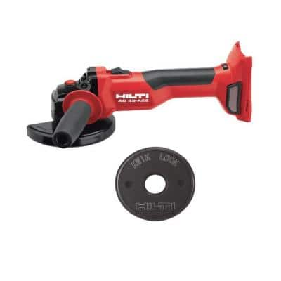 22-Volt Cordless Brushless 5 in. AG 4S Angle Grinder with Kwik Lock (No Battery)