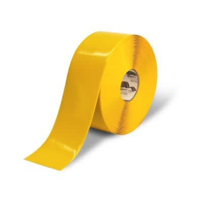 4 in. Safety Floor Tape in Solid Yellow 100 ft. Roll