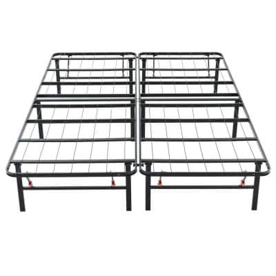 King-Size 14 in. H Heavy Duty Metal Platform Bed Frame