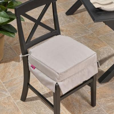 Old Orchard 16 in. x 3.15 in. Outdoor Dining Chair Cushion in Grey