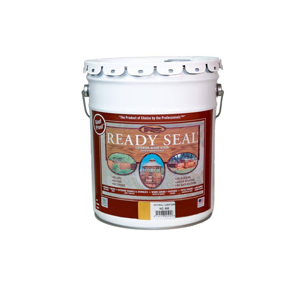 Ready Seal 5 Gal. Light Oak Exterior Wood Stain and Sealer