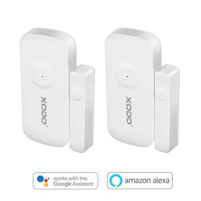 Wi-Fi Wireless Security Burglar Alarm Chime Sensors for Doors/Windows - Intruder Alert-Smart Phone Compatible (4-Pack)
