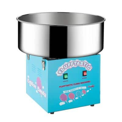 Blue Cotton Candy Machine- Flufftastic Floss Maker- Use Sugar or Hard Candy- Stainless Steel Pan