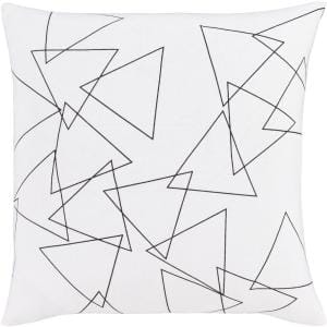 Solomon White Graphic Polyester 18 in. x 18 in. Throw Pillow